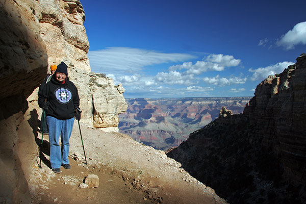 Jutta Engelhardt on the South Kaibab Trail in the Grand Canyon National Park, Arizona