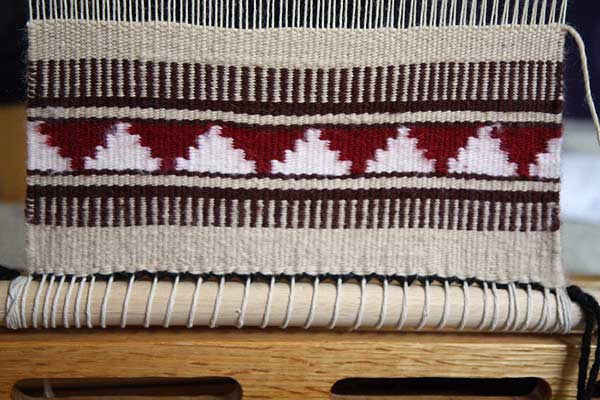The beginnings of my second Navajo rug